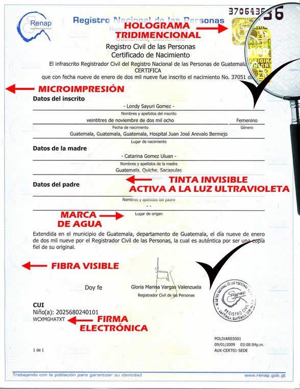 Falsa acta de nacimiento guatemalteca de Zavala | Zoon Politikon ...