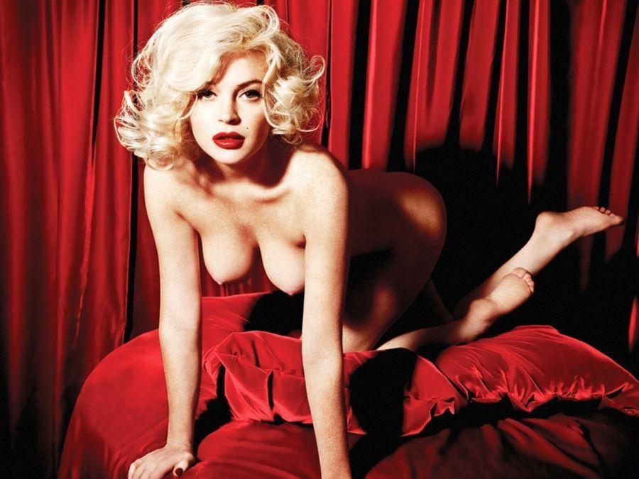 Lindsay lohan se desnuda para marilyn monroe