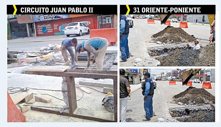 Circuito Juan Pablo Ii : Levantan concreto de la poniente y circuito a un mes