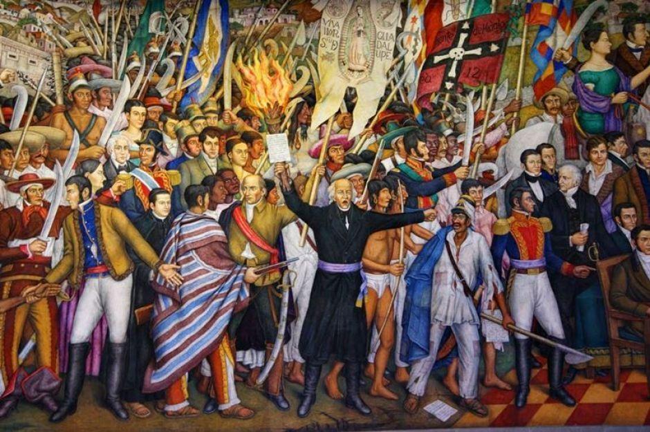 Seis murales patri ticos en el distrito federal fotos for Diego rivera la conquista mural