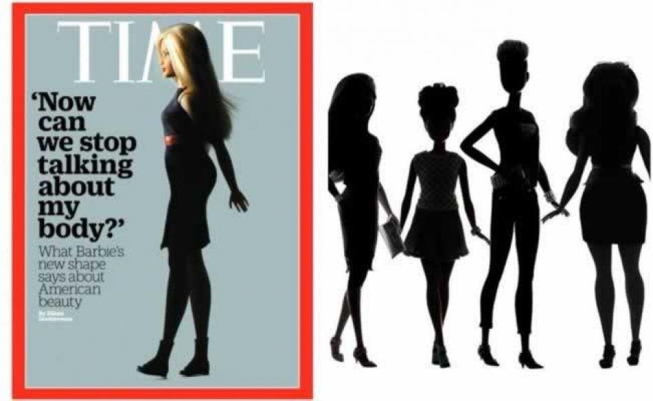 El nuevo cuerpo de Barbie es portada en la revista Time