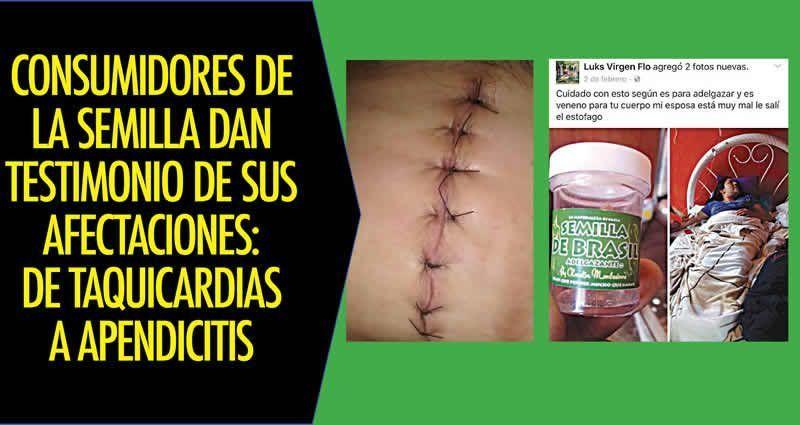 Consumidores de la semilla dan testimonio de sus Semilla de brasil es toxica
