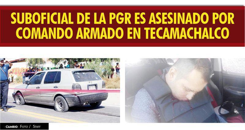 Vinculan a agente muerto en Tecamachalco con delincuencia