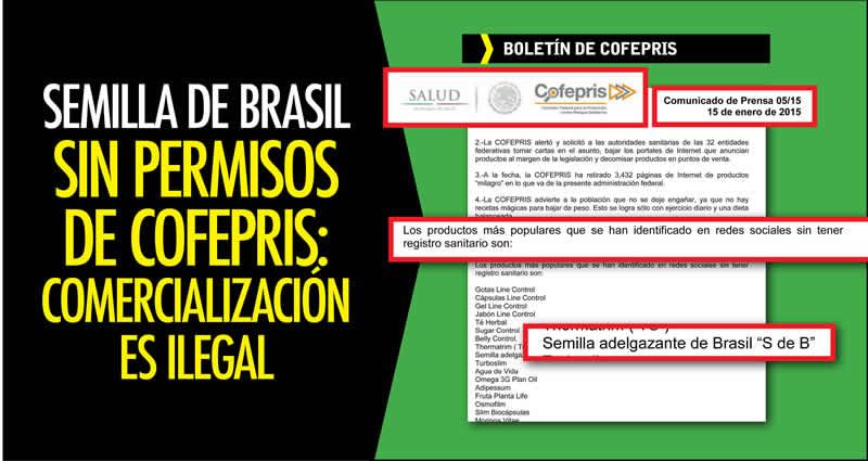 Semilla De Brasil Carece De Permisos De Cofepris