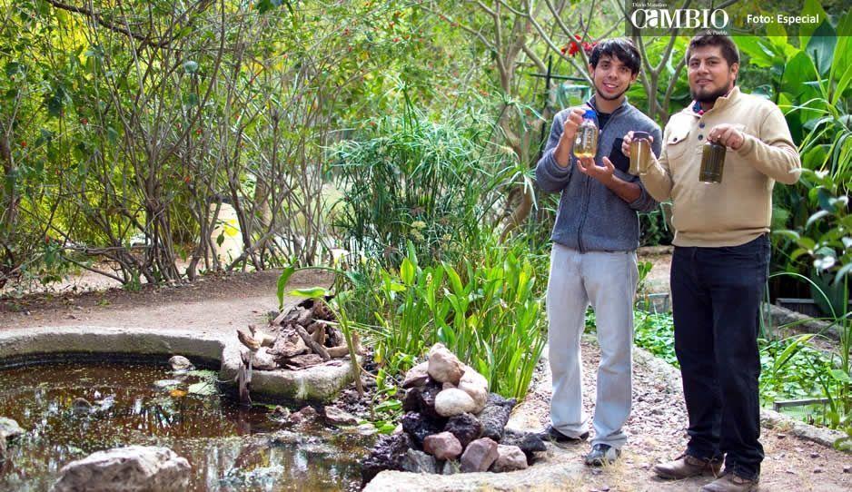 Jóvenes de la BUAP limpian  aguas residuales con biotecnología