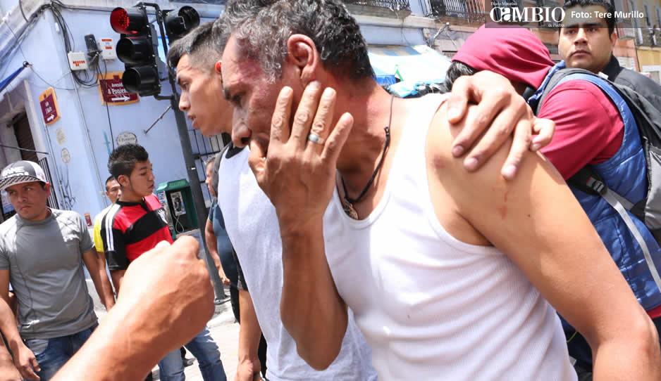 Cuatro comerciantes heridos tras balacera en el Centro Histórico (FOTOS)