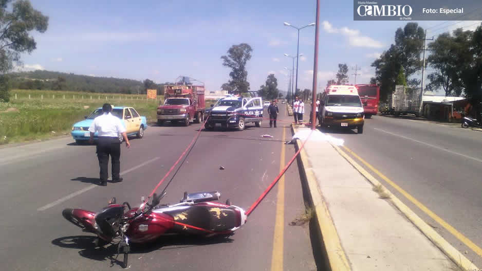 Muere motociclista en la federal México-Puebla