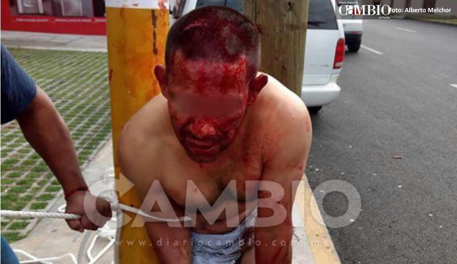 ¡Otro linchado hoy! Desnudan a ladrón de autopartes y lo torturan en El Vergel