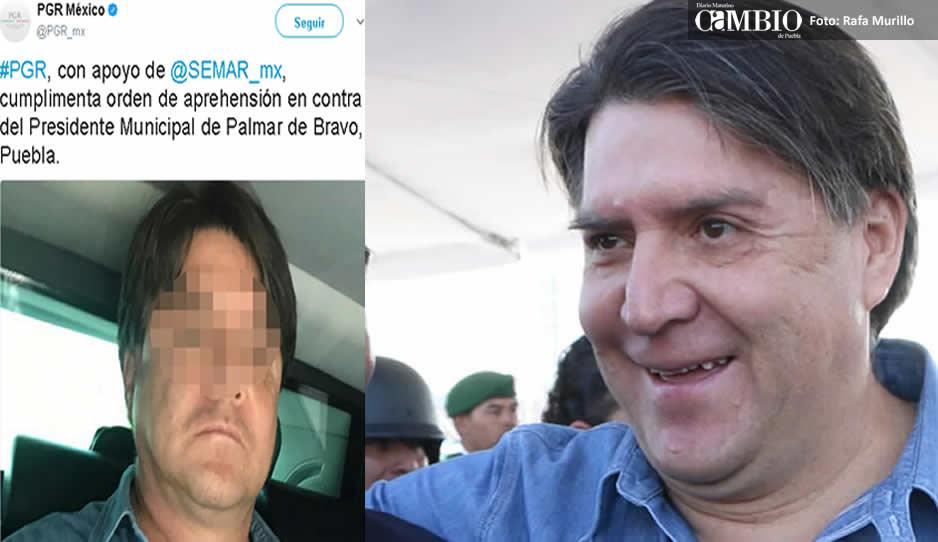 PGR detiene a alcalde de Palmar de Bravo por robo de combustible