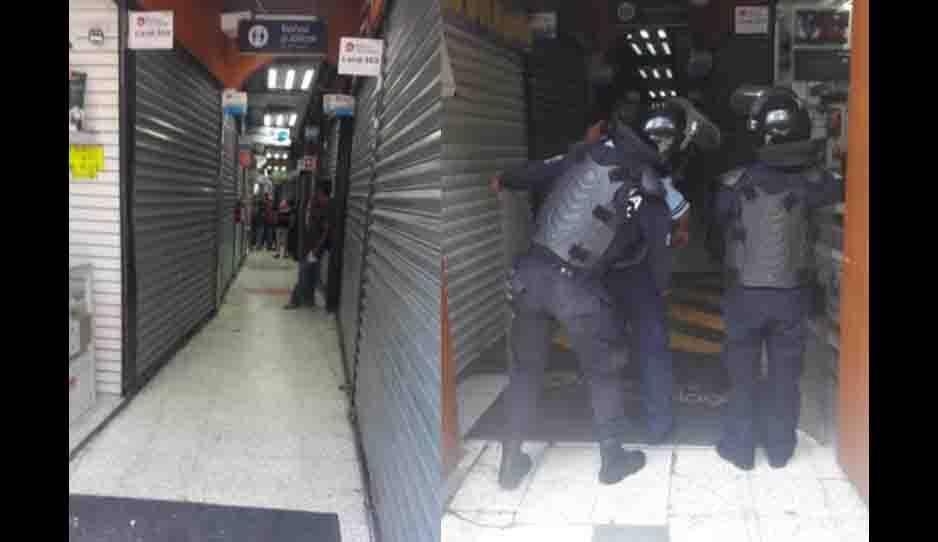 Catean Plaza de la Computación buscando celulares robados