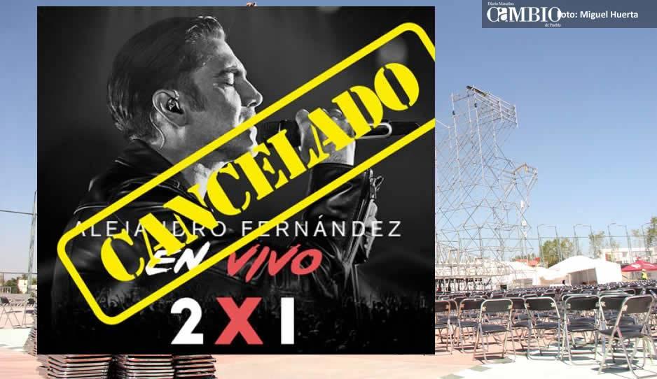 Alejandro Fernández cancela concierto en Puebla y culpan a empresario