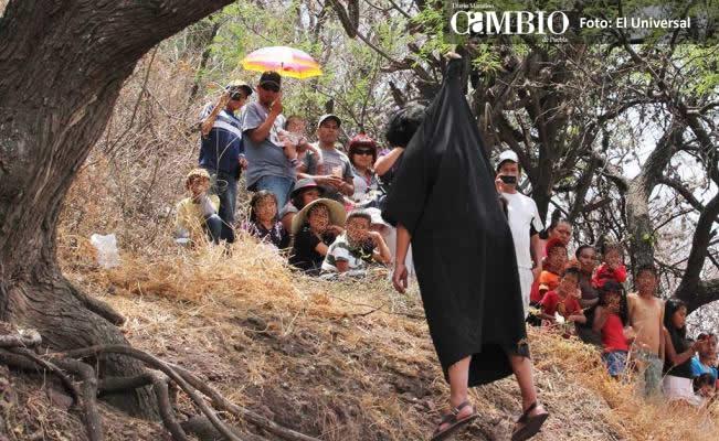 Muere por asfixia interpretando a Judas en viacrusis de Tancítaro