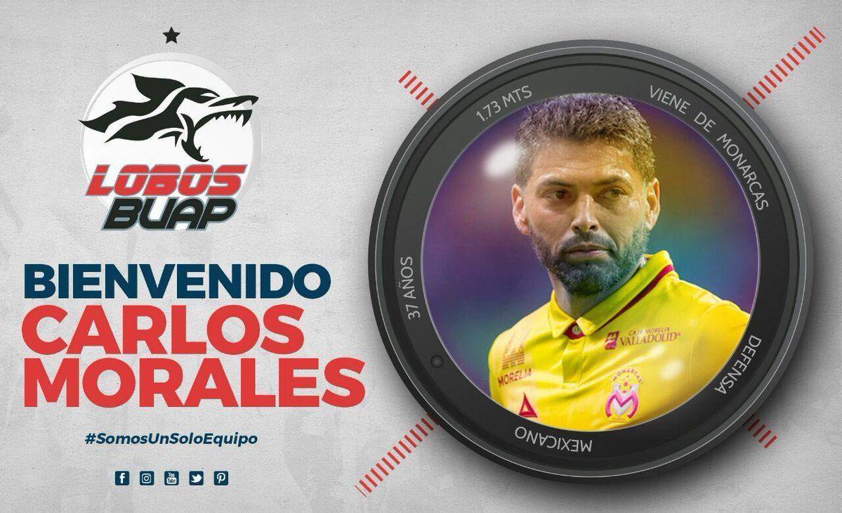 Refuerza Carlos Morales a Lobos BUAP en calidad de préstamo