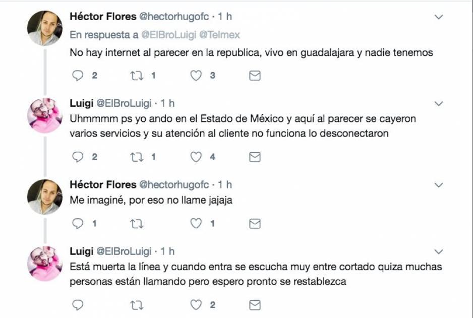 Telmex y Telcel reportan fallas a nivel nacional