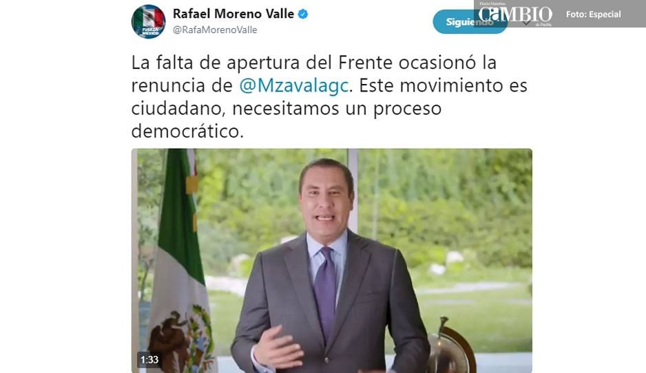 Margarita Zavala no ganará como independiente: Moreno Valle