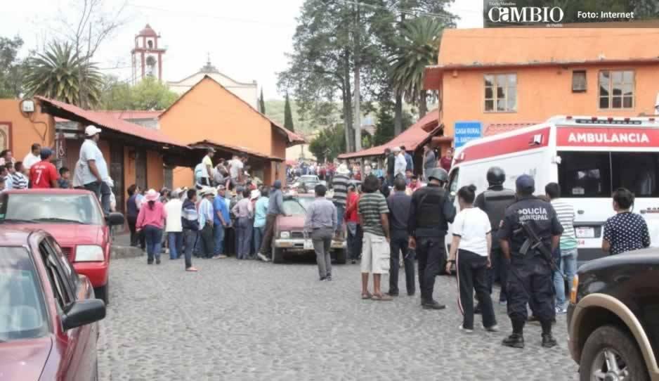 Pobladores linchan a cuatro presuntos ladrones en Puebla