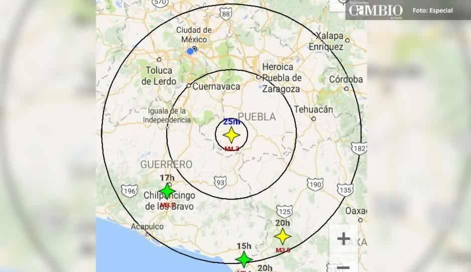 Sismo de 4.3 grados sacude Chiautla de Tapia