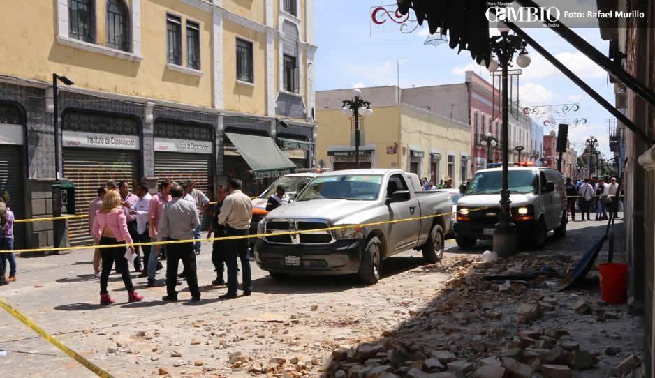 En la capital de Puebla hay 667 inmuebles dañados