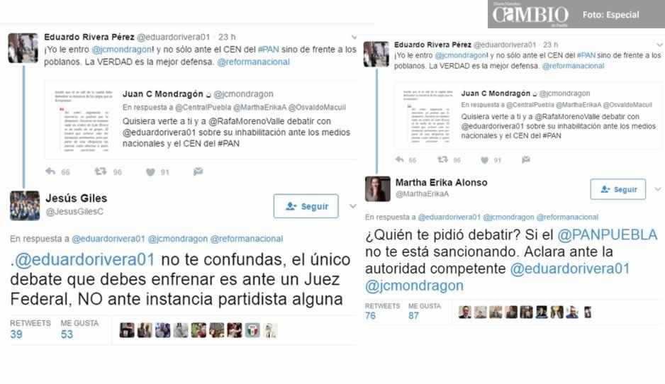 Protagonizan pleito tuitero dirigencia estatal del PAN y Lalo Rivera