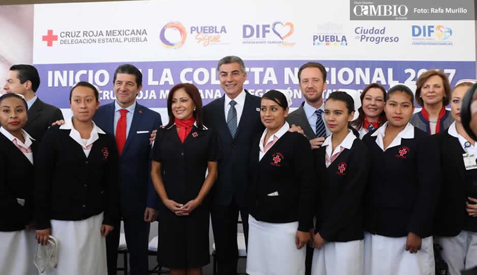 DIF capitalino se suma a la colecta 2017 de la Cruz Roja