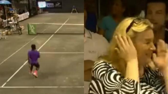Ahora pareja tiene realciones sexuales en pleno partido de tennis