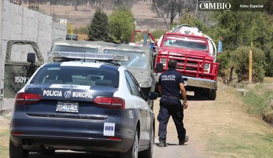 Aseguran pipa y camioneta con combustible en Texmelucan