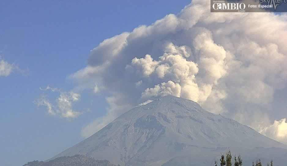 El Popocatépetl registra una fuerte explosión