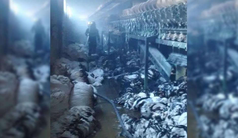 Se incendia fábrica textil en la colonia Resurgimiento
