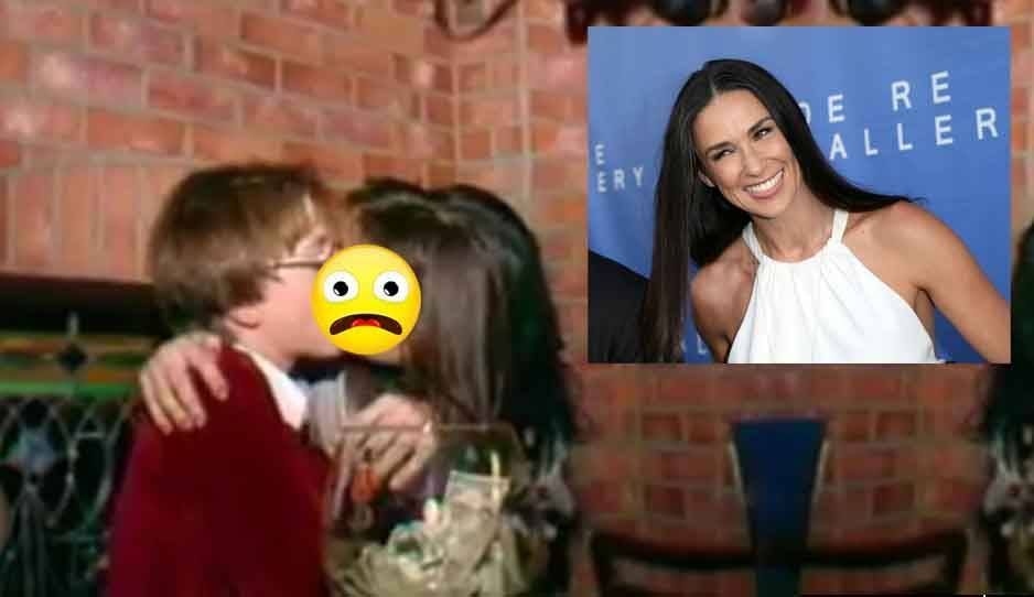 Escándalo: El video de Demi Moore besando apasionadamente a un niño