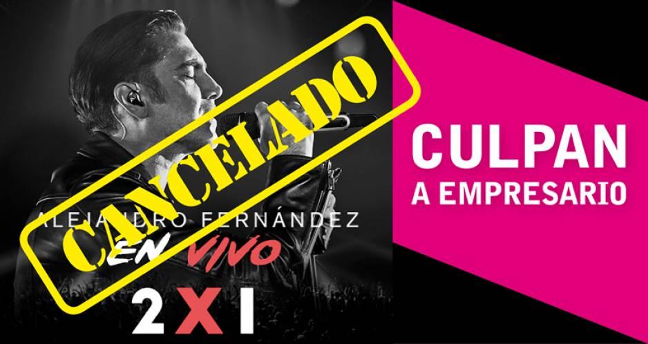 Cancelan conciertos de Alejandro Fernández en Puebla y Pachuca