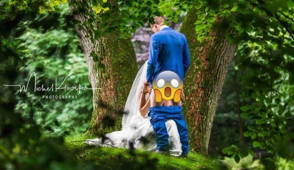La foto más escandalosa en la historia de las bodas