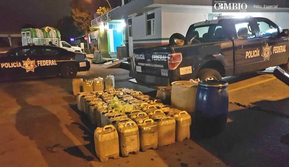Policía Federal aseguran huachipuesto en la México-Puebla