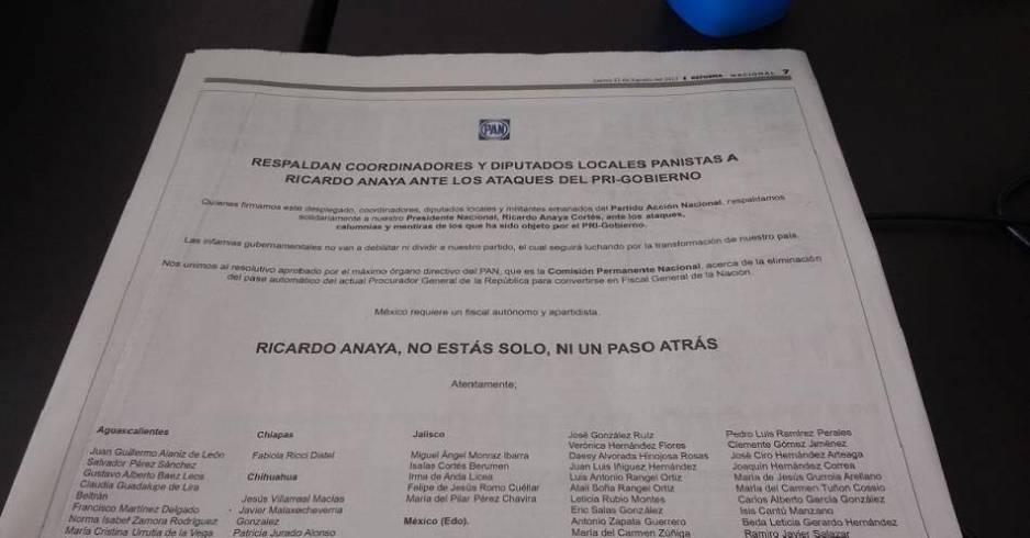 Margarita Zavala pide renuncia de Anaya a la presidencia del PAN
