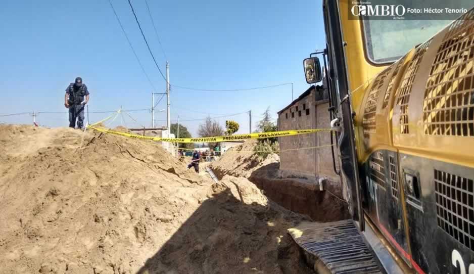 Joven muere al quedar sepultado en obra en Chiautzingo