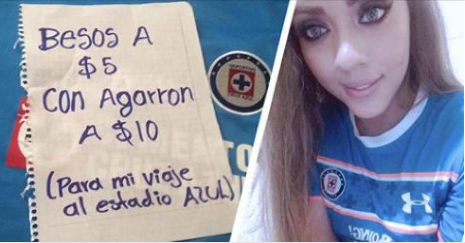 Fan ofrece besos 'con agarrón' a 10 pesos para ir a partido