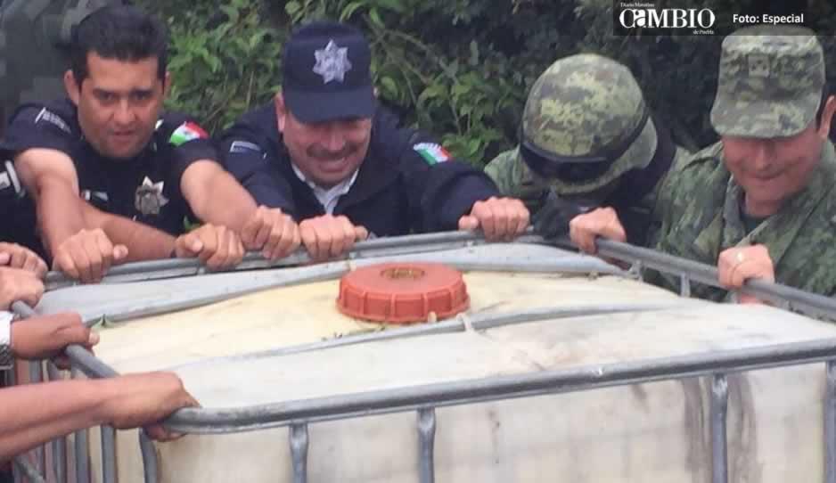 PF y Ejército desmantelan bodega de huachicol en Esperanza