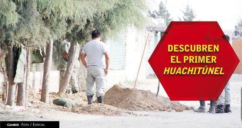 Descubren el primer huachitúnel en Puebla