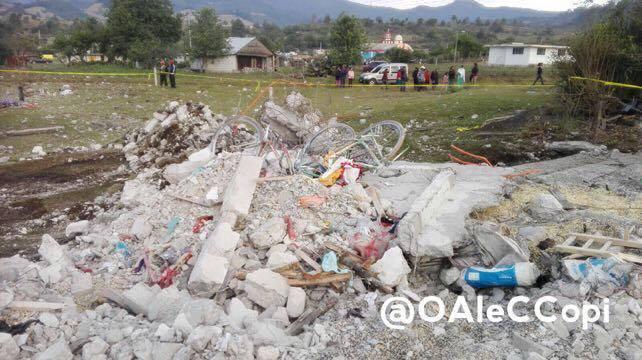 Deja 14 muertos explosión de pirotecnia en Chilchota