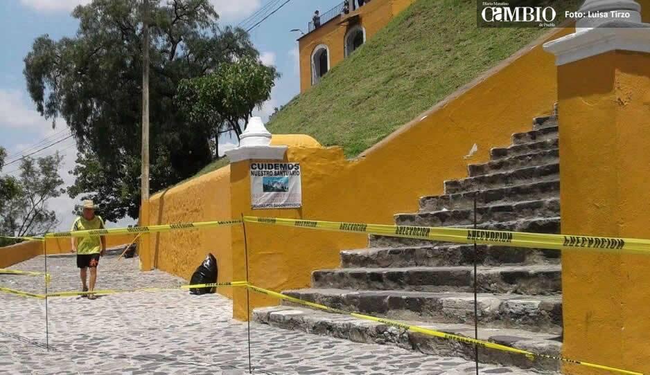 Fuertes lluvias fracturaron la gran pirámide de Cholula
