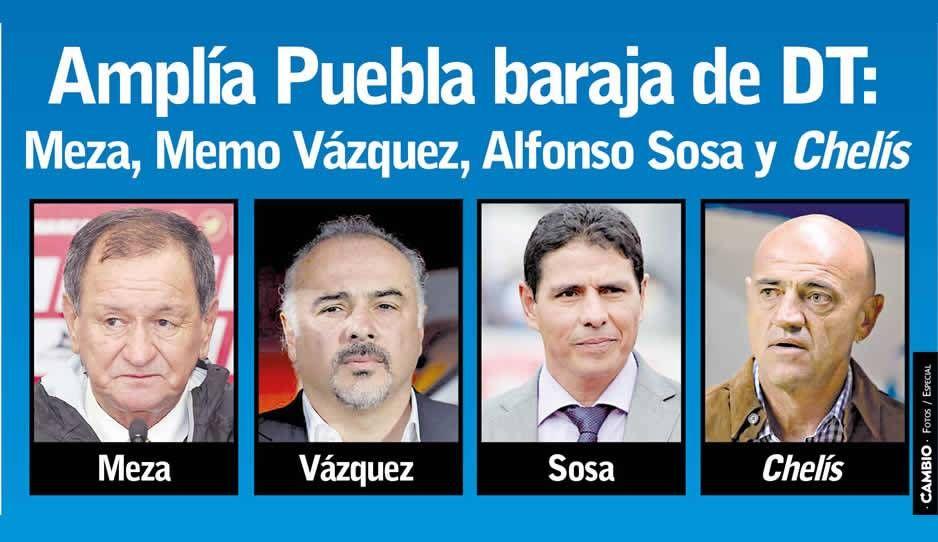 Enrique Meza llega al banquillo del Puebla