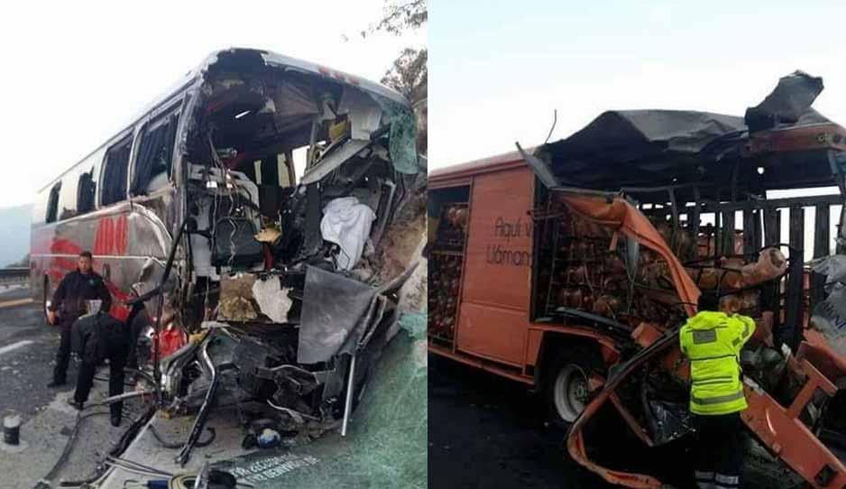 Choque en Oaxaca deja saldo preliminar de un muerto y 7 heridos