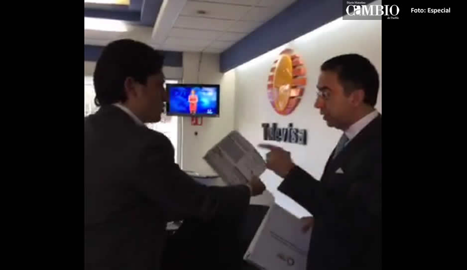 Javier Lozano y alcalde de Cholula protagonizan altercado en Televisa