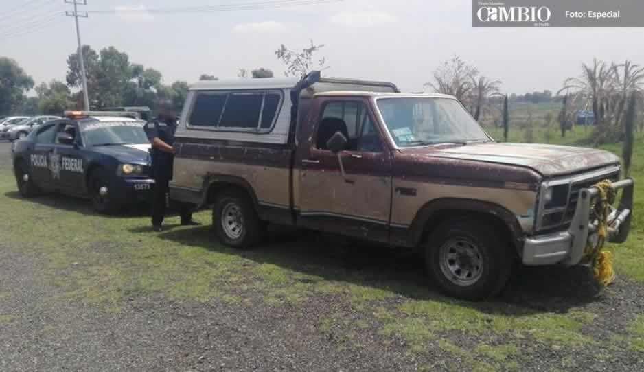 Policía Federal asegura unidad con combustible en el bulevar Aeropuerto