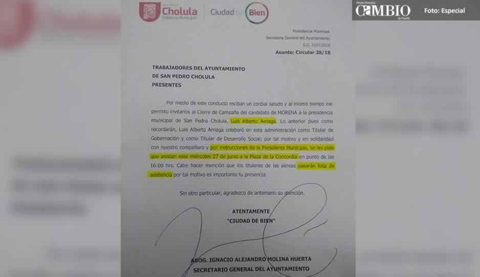 Por órdenes de JJ, obligan a empleados de San Pedro a acudir a cierre del candidato de Morena