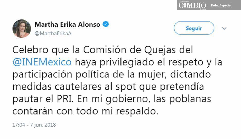 """MEA celebra que INE aplicará medidas cautelares contra spot de """"espejito espejito"""""""