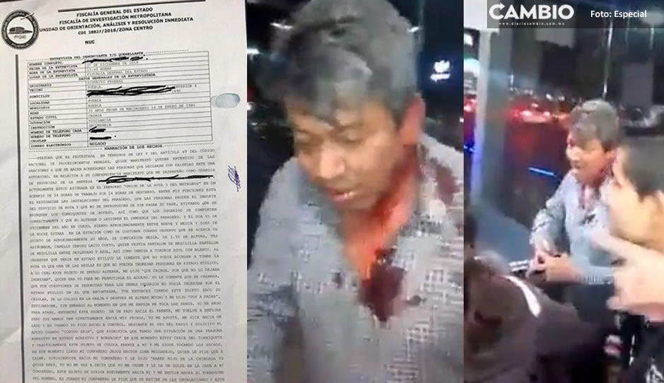 Sujeto golpeado en paradero de RUTA 3 estaba borracho y le tocó los senos a una guardia (VIDEO)