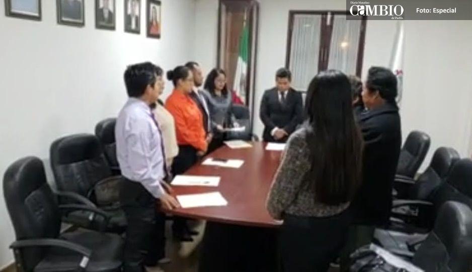 Alcalde y regidores de Coronango toman protesta durante la primer sesión de Cabildo