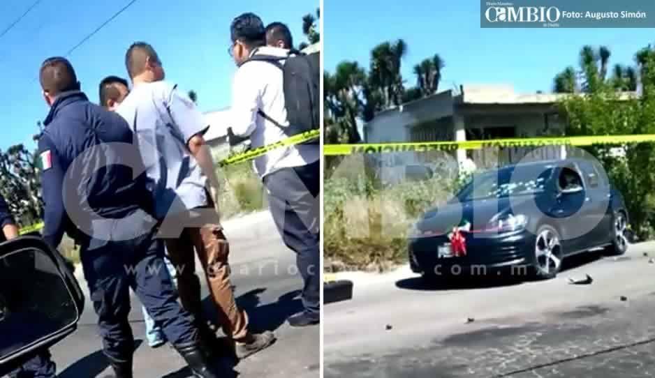 Rafaguean un automóvil en la carretera Tecamachalco – Quecholac, hay dos muertos