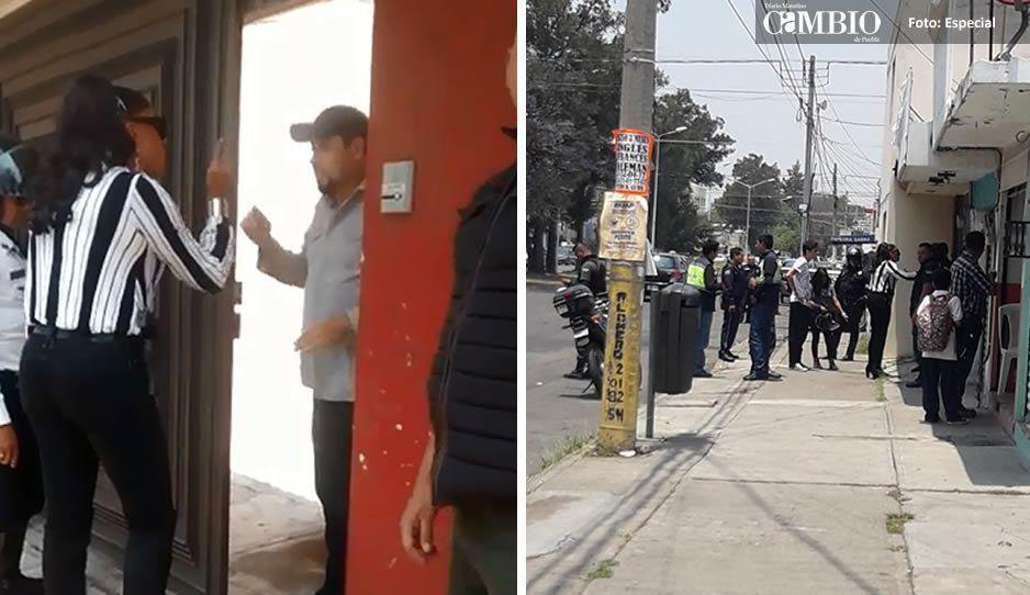 #LadyVialidad: directora de tránsito arma escándalo por defender a su hijo en San Manuel (VIDEO)