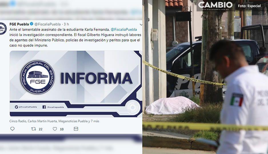 Fiscalía inicia la carpeta de investigación por el feminicidio de Karla Fernanda